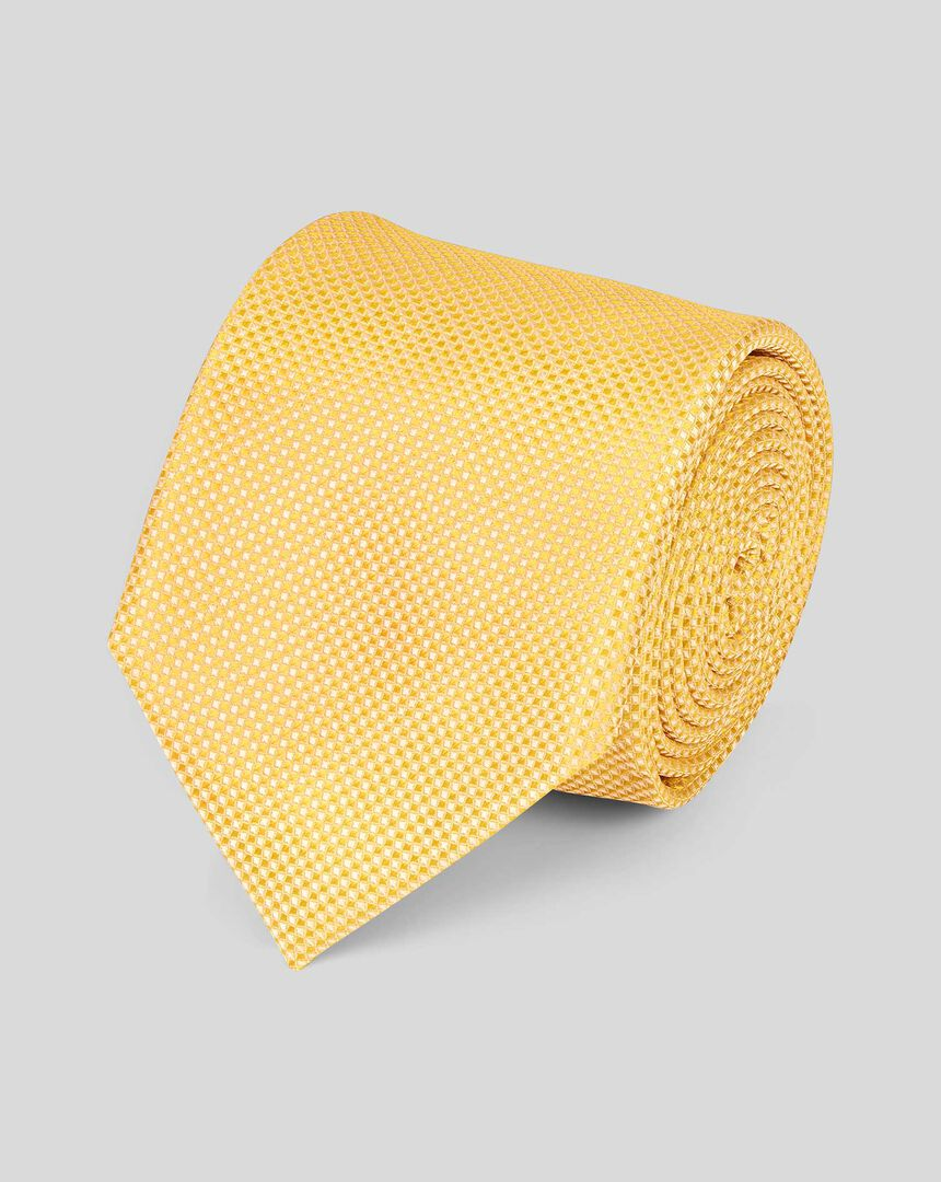 Silk Stain Resistant Classic Tie - Light Yellow