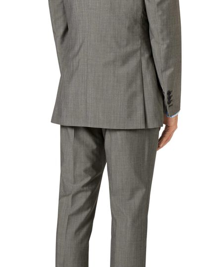 Grey slim fit Italian wool luxury suit jacket