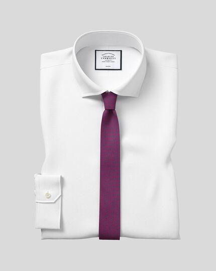 Spread Collar Non-Iron 4 Way Stretch Shirt - White