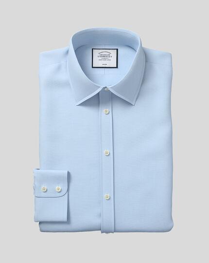 Slim fit non-iron poplin sky blue shirt