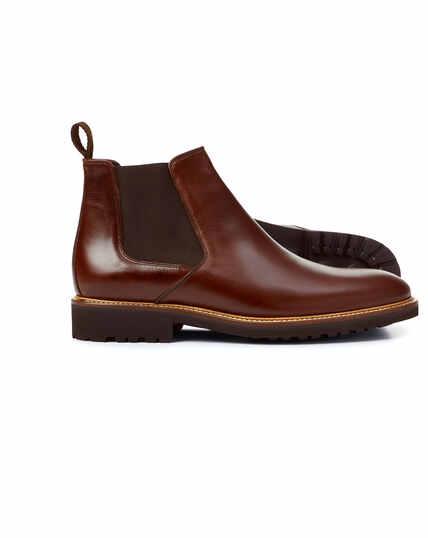 Extraleichte Chelsea Stiefel in Schokoladenbraun