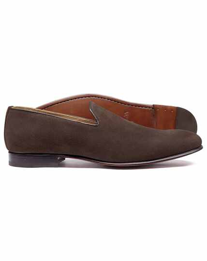 Brown slip on shoe