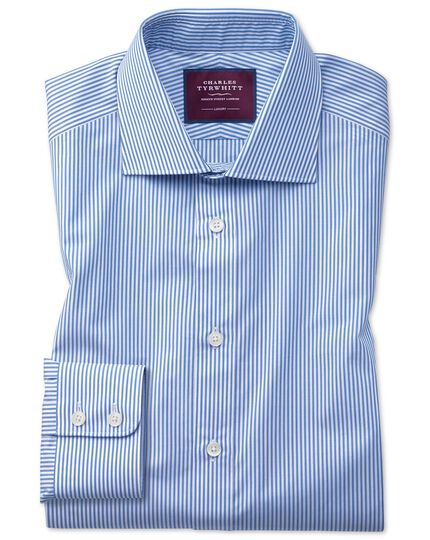 Slim fit blue stripe luxury shirt