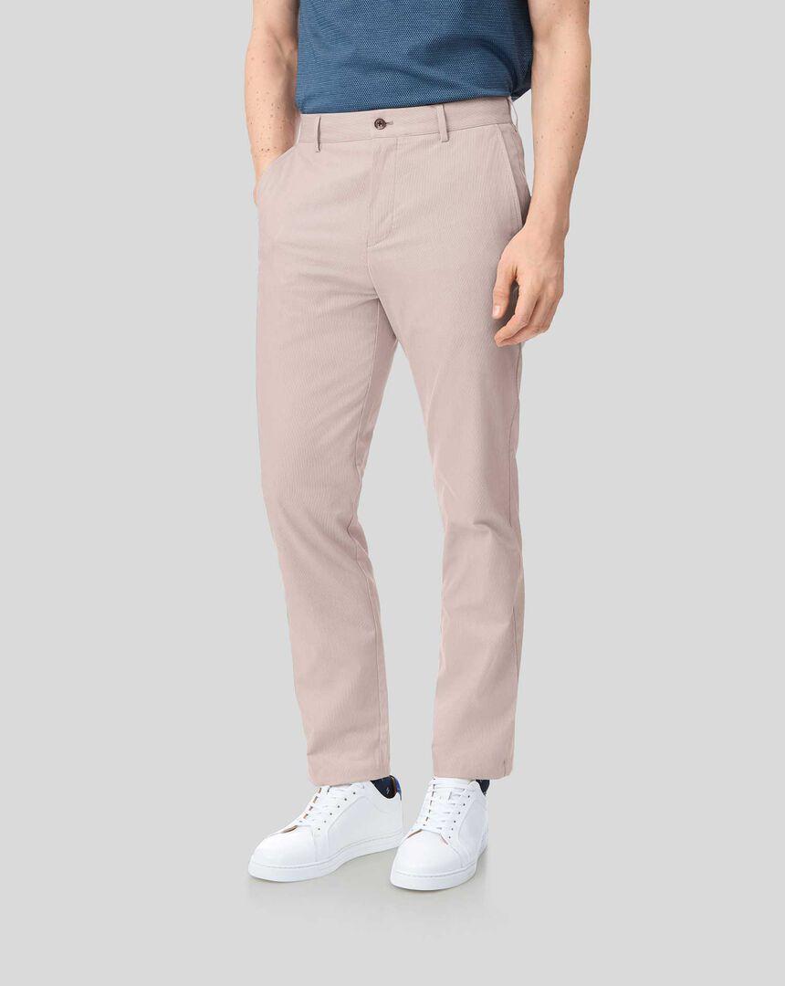 Fine Stripe Pants - Red