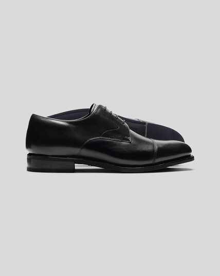 Goodyear Welted Derby Toe Cap Performance Shoe  - Black