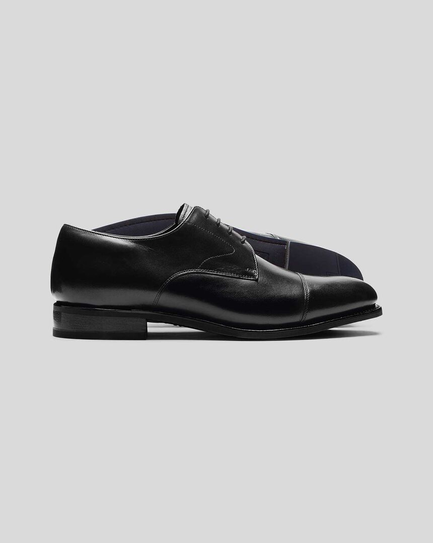 Goodyear Welted Derby Toe Cap Performance Shoes  - Black
