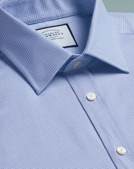 Classic fit Egyptian cotton chevron sky blue shirt