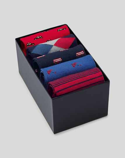 Motif Sock Gift Box - Multi