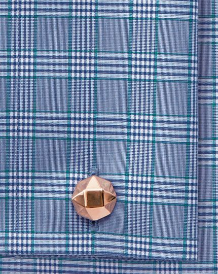 Rose gold octagon metal cufflinks