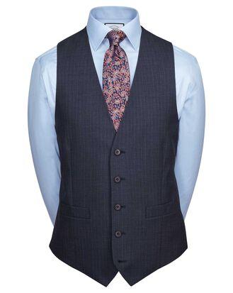Blue adjustable fit twist business suit vests
