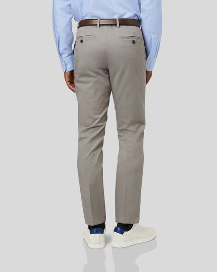 Smart Non-Iron Chinos - Light Grey