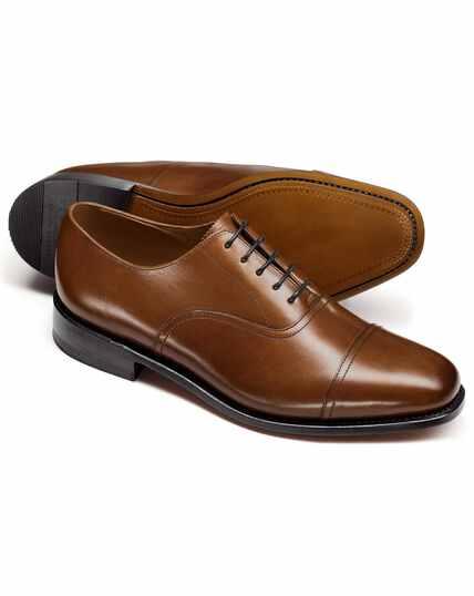Tan Bennett toe cap Oxford shoes