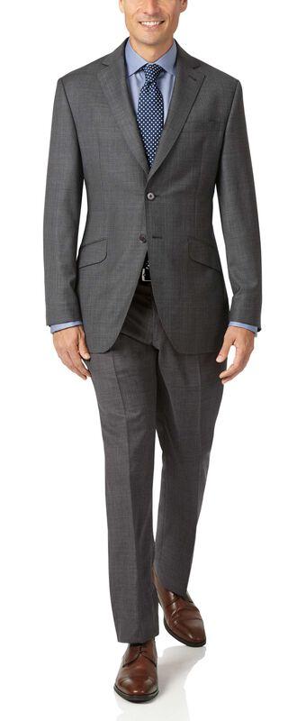 Grey slim fit check Italian Suit