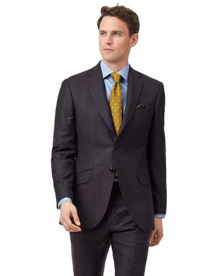 Aubergine slim fit Italian suit jacket