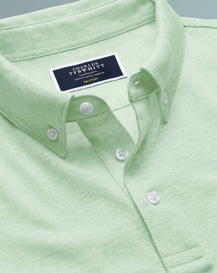 Light green cotton linen polo