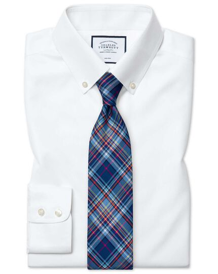 Classic fit white button-down collar non-iron twill shirt