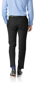Black twill slim fit business suit