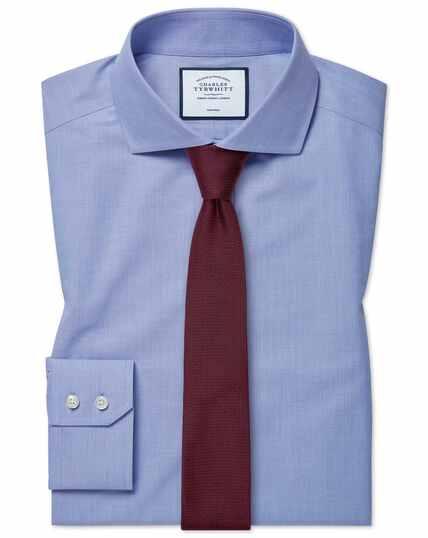 Hemd Extra Slim Fit Bügelfrei mit 4-Way-Stretch in Blau