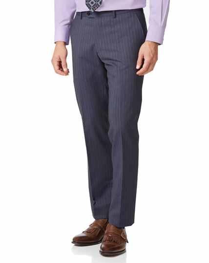 Airforce stripe classic fit Panama business suit pants