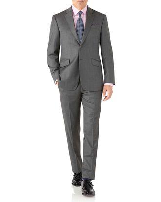 Grey classic fit Italian suit