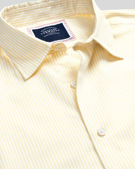 Classic Collar Brighton Collection Stripe Shirt - Yellow