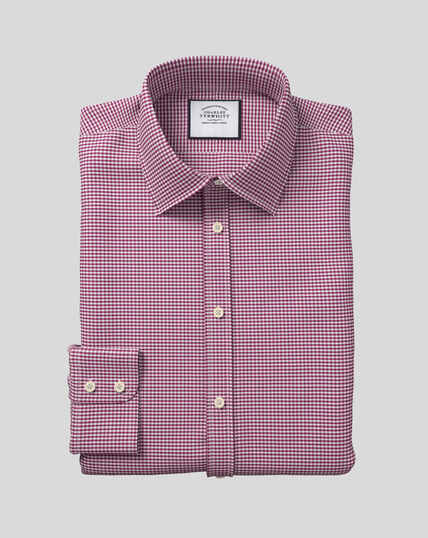 Classic Collar Gingham Shirt - Pink