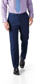 Royal blue slim fit twill business suit