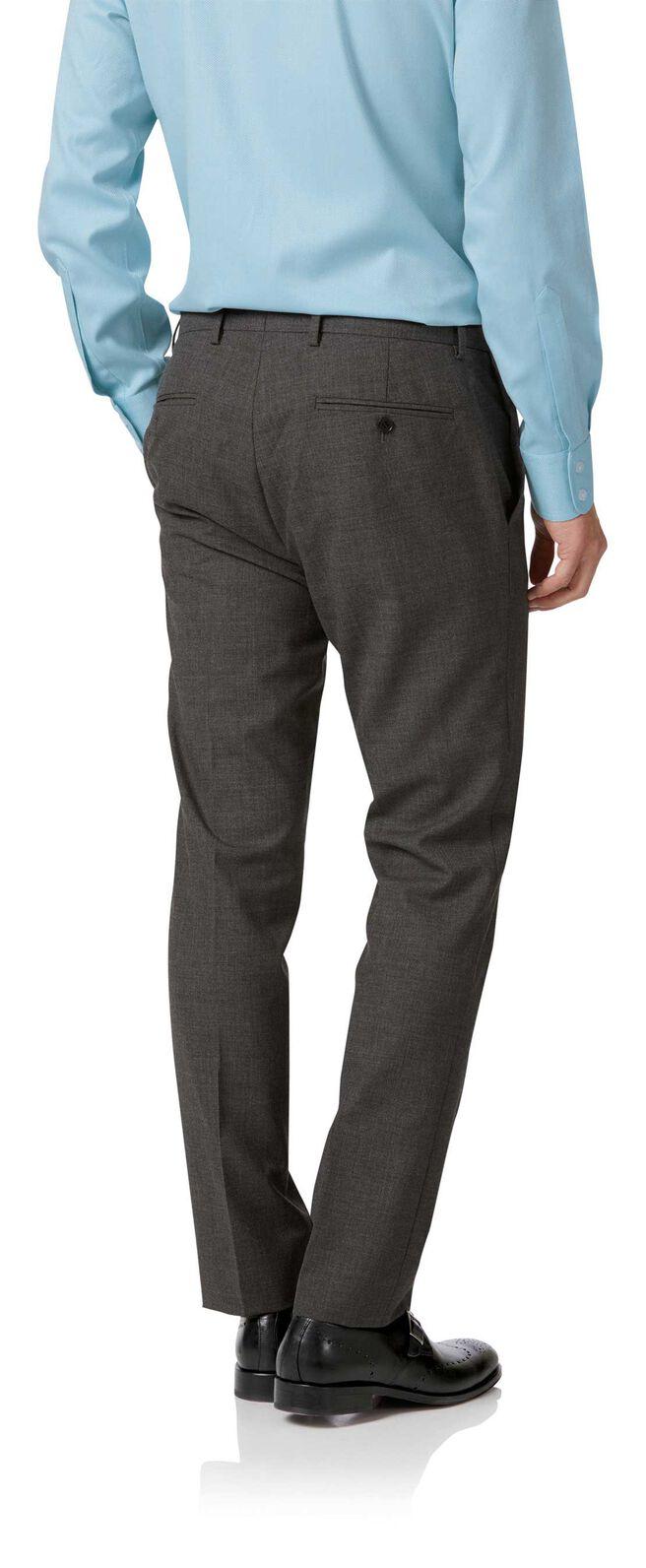 Grey slim fit merino business suit