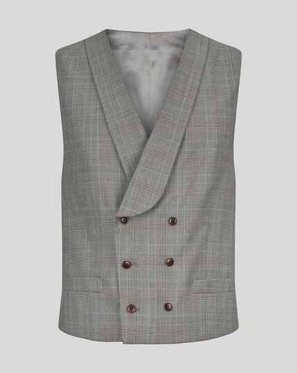 Prince Of Wales British Luxury Suit Waistcoat - Grey