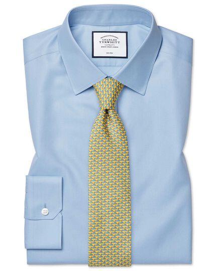 Super slim fit non-iron twill sky blue shirt