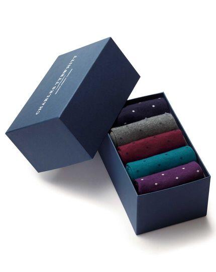 Socken-Geschenkset in Bunt mit Punkten