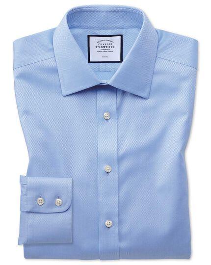 Bügelfreies Extra Slim Fit Hemd aus Triangle Gewebe in Himmelblau