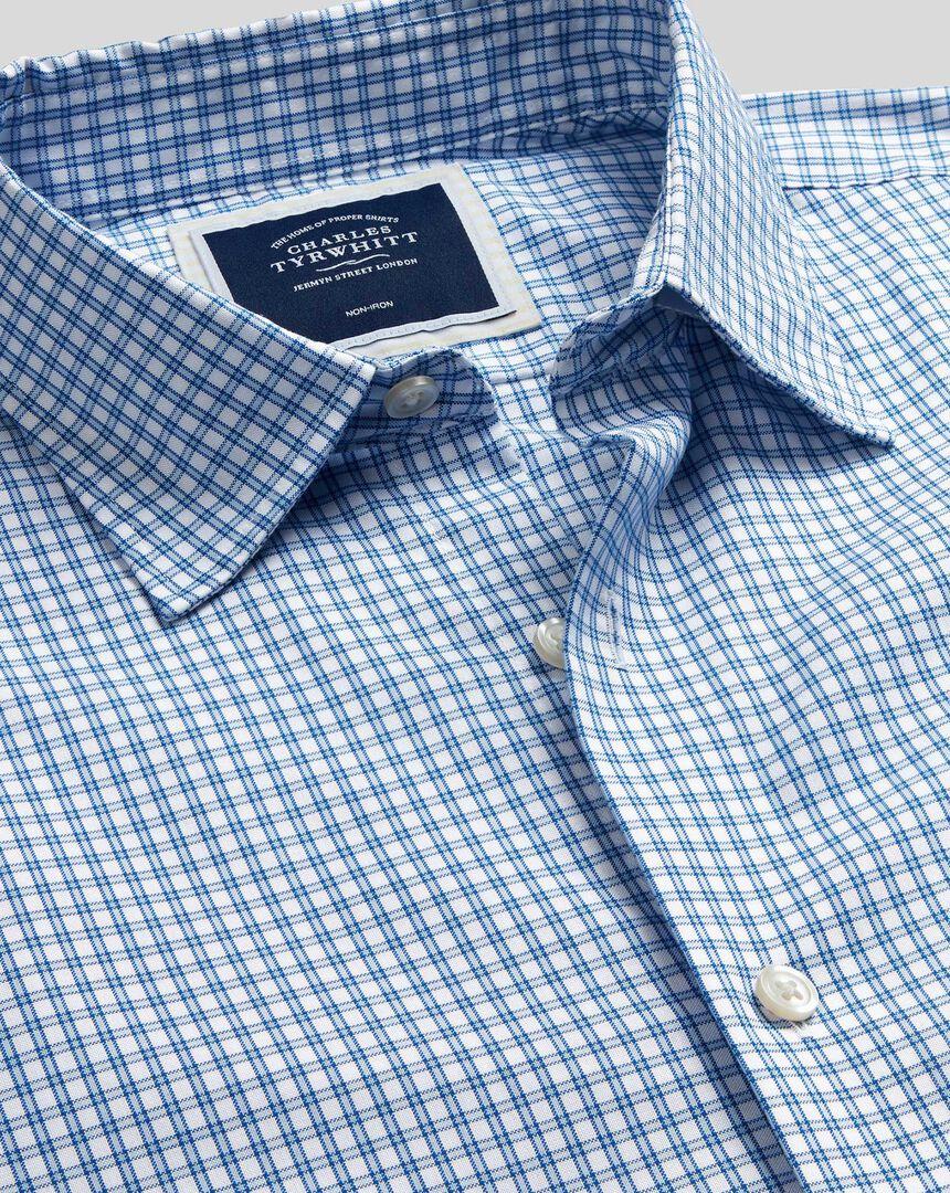 Classic Collar Brighton Collection Check Shirt - Blue