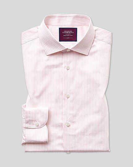 Slim fit luxury stripe pink shirt