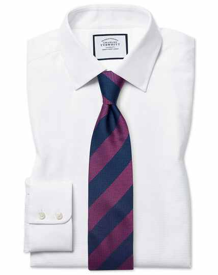 Classic fit Egyptian cotton chevron white shirt