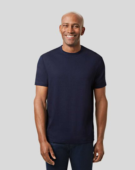 Smart Jersey Tyrwhitt T-Shirt - Navy
