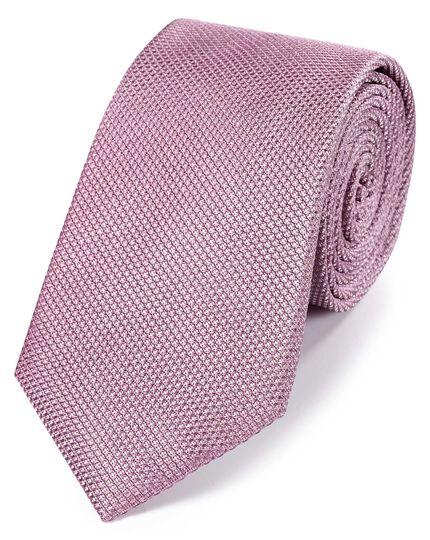Klassische Krawatte aus Seide in Flieder