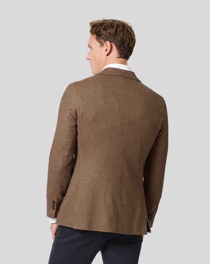 Italian Herringbone Jacket - Tan