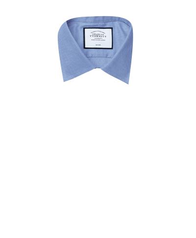 Slim fit non-iron royal Panama blue shirt