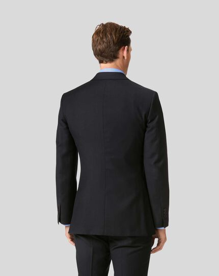 Twill Business Suit Jacket - Black