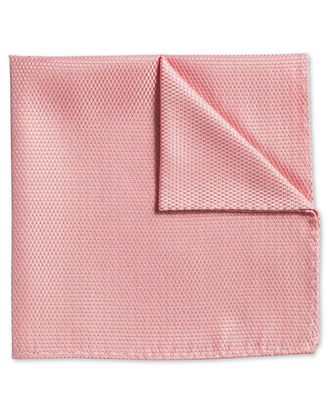 Peach classic plain pocket square