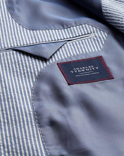 Slim Fit Sakko aus Seersucker-Baumwolle mit Streifen in Blau