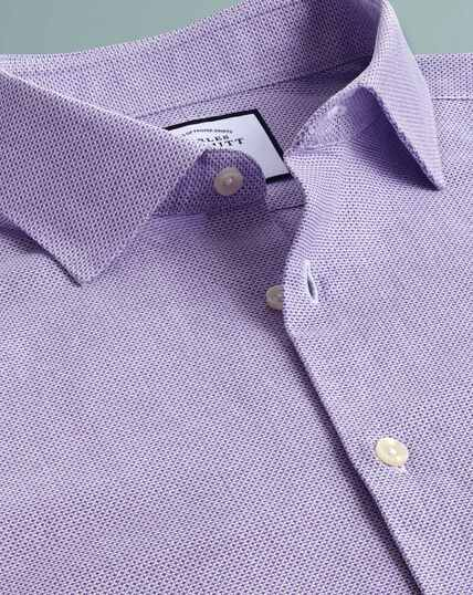 Business Casual Leno Texture Shirt - Lilac