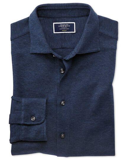 Jersey-Hemd in Marineblau