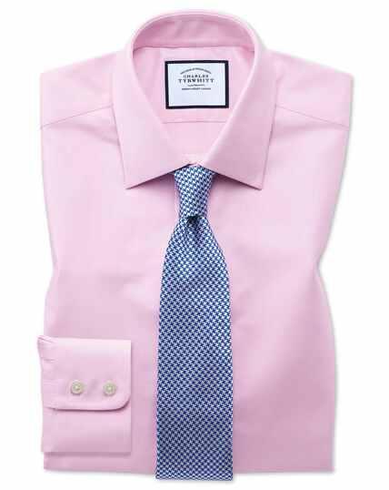 Slim fit Egyptian cotton royal Oxford pink shirt