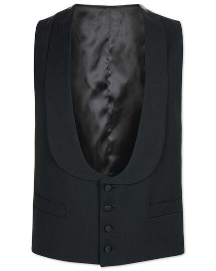 Black adjustable fit shawl collar tuxedo waistcoat