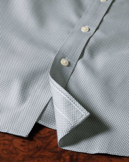 Classic fit non-iron honeycomb grey shirt
