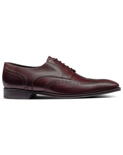 Burgundy Derby brogue shoes
