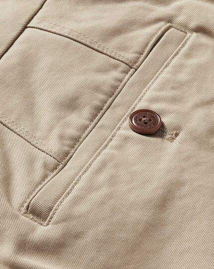Stone classic fit flat front washed chinos