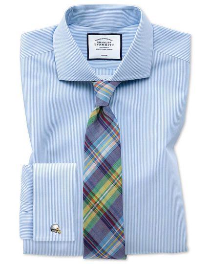 Green check linen silk Italian luxury tie